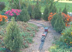 A model train adds whimsy, and a way for the toy-inclined to relate to the garden.