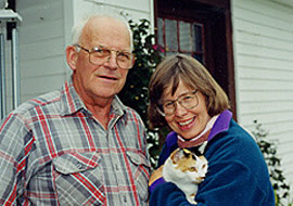 Lewis, Nancy, and Cricket (cat) Hill