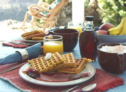Pumpkin-spice waffles are a favorite treat; scroll down for recipe.