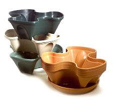 Beautiful Now A New Line Of Pots Makes Container Gardening Even More Space Saving.  The Stacking Planters ...