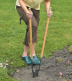 Easier way to plant bulbs for Gardening tools used in planting