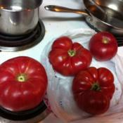 Location: Jamestown Ca.Date: August 20, 2013Postal scale weight 29.5 oz tomato. Brandywine Pink. The size of
