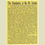 Date: 1889The history of the Brandywine tomato from the 1889 John
