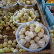 Location: Indiana  zone 5Date: 2016-08-02Sweet husk cherries at the farmers market