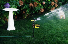 Con-Tech's ScareCrow uses motion and a surprise burst of water to protect gardens.