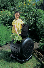 Tumble composters like the Envirocycle eliminate turning by hand.